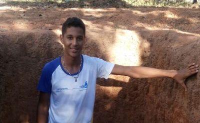 O aluno Jackson Dias disse ter aprendido a identificar as camadas do solo