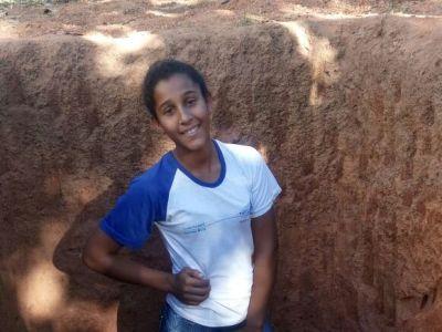 A estudante Josiane Dias destacou as possibilidades de intervenção no solo para o plantio