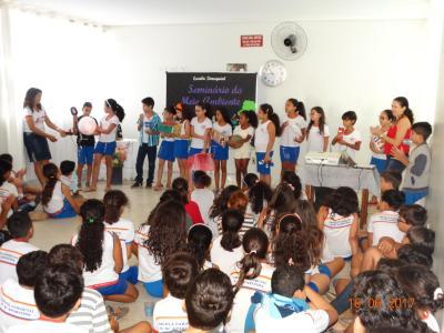 Participaram da culminância cerca de 130 alunos do 4º e 5º ano do ensino fundamental