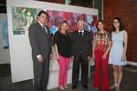Alexandro de Castro e Noraney com o presidente do TJ, a esposa e a filha de Pierre de Freitas