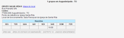 Reuniões Augustinópolis