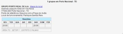 Reuniões Porto Nacional