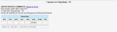 Reuniões Taguatinga