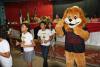 Mascote do programa marca presença em Augustinópolis.