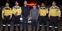 Estande do Detran/TO com Instruções Sobre o Teste do Bafômetro Visita do Presidente Eudilon Donizete e Coronel Gestino Santana