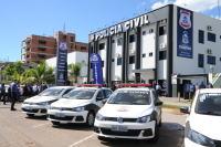 O complexo de delegacias especializadas, no Centro de Palmas, recebeu três novas delegacias que vão combater o crime no Estado