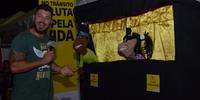 Estande do Detran/TO Teatro de Fantoches Entrevista com TV Local