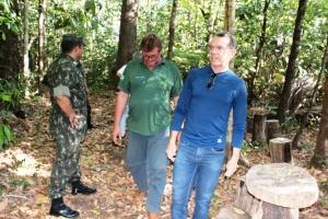 Exército participa de visita guiada na Unidade de Conservação