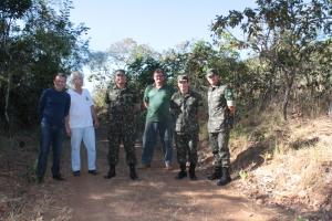 A visita pretende estabelecer uma parceira entre o Exército e o Naturatins
