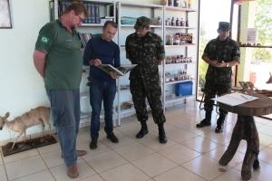 Equipe do Exército conhece sede do Parque Estadual do Lajeado