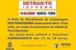 Detran em Luzimangues