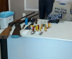 Armas de fogo e munições apreendidas na operação_300.jpg