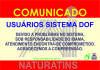 Naturatins informa sobre o gerenciamento e todas as transações e operações referentes ao sistema Documento de Origem Florestal (DOF)