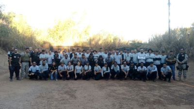 Servidores de unidades prisionais do sul do estado recebem reforço em treinamento. Credito Espen_400.jpg