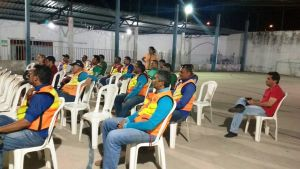 26 mototaxistas compareceram ao encontro na sede da Coopermoto