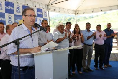 Governador Marcelo Miranda durante entrega de obras em Presidente Kennedy