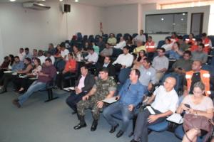 A presença do Exército brasileiro e outros parceiros lotou o auditório do Naturatins
