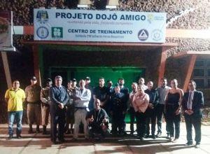 PM e autoridades inauguram projeto Dojo Amigo e Centro de Treinamento.