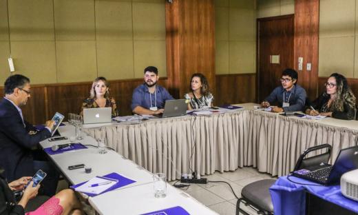 Durante a reunião da Câmara dos secretários de Comunicação foi  apresentada a minuta do estatuto, a logomarca e ações conjuntas de Comunicação e de Publicidade
