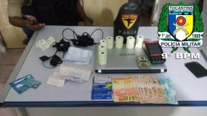 Objetos apreendidos em poder do acusado em Araguatins_300.jpg