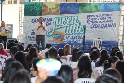 Ricardo Ribeirinha, superintendente da Juventude em comemoração ao Dia do Estudante