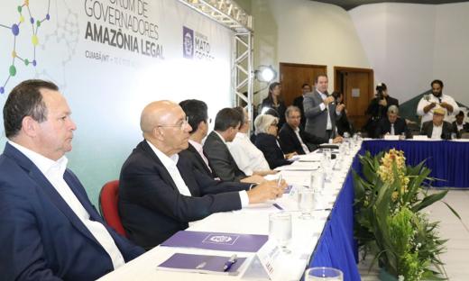 O encontro dos governadores teve início somente às 13 horas (horário local e 14 horas em Brasília) e foi realizado no Centro de Eventos do Pantanal, em Cuiabá (MT)