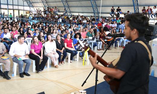Música e animação marcaram as comemorações do Dia do Estudante, em Palmas