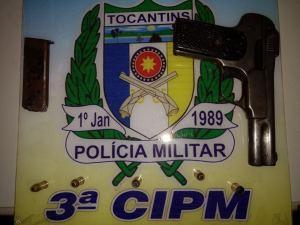Arma apreendida pela PM em Colinas.