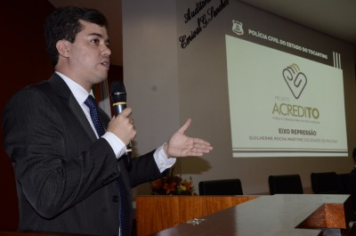 O superintendente de Ações sobre Drogas, José Américo Júnior, explicou o desenvolvimento do projeto dentro dos quatro eixos da política sobre drogas.