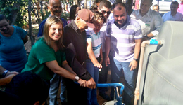A solenidade contou com a presença da vice-governadora Claudia Lelis que entregou os certificados de propriedade e conferiu a qualidade das cisternas instaladas