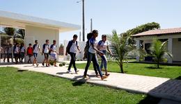 Com a reforma, a unidade escolar passou a contar com 2.101,43 m² de área construída.