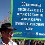 Produtor, Jaci Marques de Oliveira, informa que a  barraginha está sendo a salvação da sua propriedade