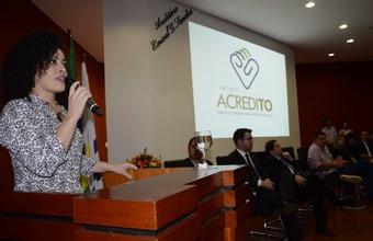 Gleidy Braga, disse que o Projeto Acredito é uma estratégia de gestão transversal e intersetorial.