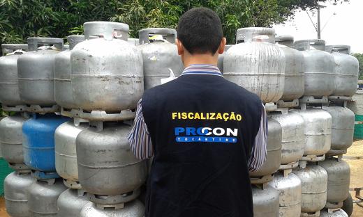 Em Palmas, o órgão fiscalizador constatou aumentos de até R$ 8 nos botijões, segundo a Petrobras, aumento final seria de no máximo R$ 1,29