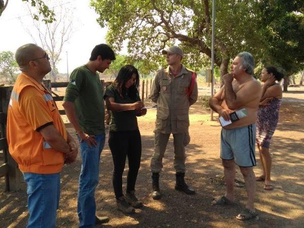 Força-tarefa contra as queimadas percorreu cerca de 90 propriedades em Lagoa da Confusão nesta sexta-feira