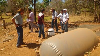O projeto modelo de biodigestor implantado, em junho 2017, na Escola Familiar Agrícola, em Porto Nacional