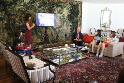 Participaram do encontro representantes da Embaixada, da Educação, da Bett Educar e do Terceiro Setor