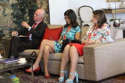 O encontro aconteceu na sede da Embaixada Britânica em Brasília