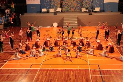 A coreografia chamou a atenção pela beleza e destreza das ginastas