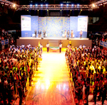 Prestigiaram a abertura atletas representantes de todos os estados que participam da etapa de 12 a 14 anos dos Jogos Escolares da Juventude