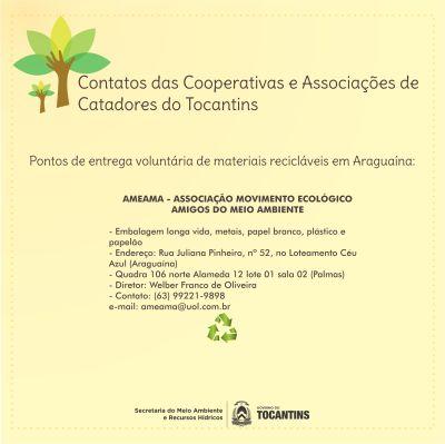 Cooperativas e Associações de Catadores de Araguaína