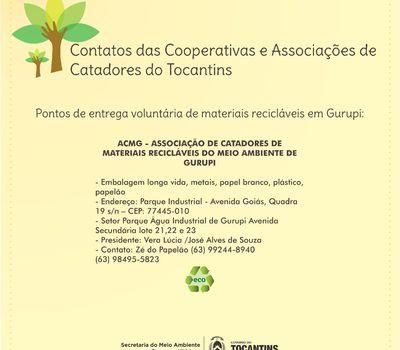 Cooperativas e Associações de Catadores de Gurupi