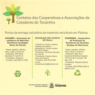 Cooperativas e Associações de Catadores de Palmas