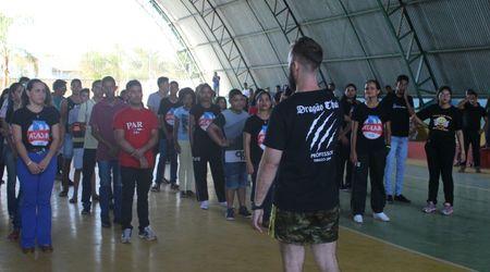 O Encontro contou com aulas de Muay Thai e Jiu Jitsu, jogos de Futsal masculino e feminino, apresentações de peças teatrais, RAP e dança.