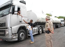 Flash da blitz educativa na semana nacional de trânsito na TO-373, em Araguaçu, região sul do Tocantins.