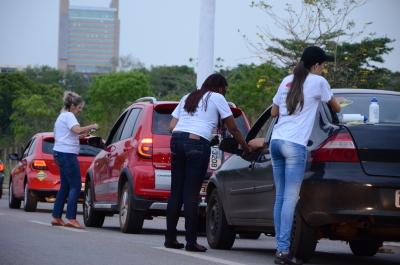 Detran/TO realiza blitz educativa para encerrar a Semana Nacional de Trânsito
