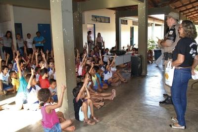 Na Escola Estadual Arlinda Rosa em Couto Magalhães a participação dos alunos foi intensa