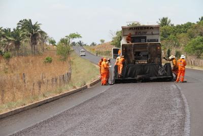 Reconstrução do pavimento asfáltico da TO-404 entre Araguatins e Augustinópolis