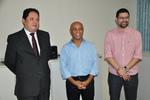 Secretário Paulo Antenor, delegado Antônio José e o Superintendente da Receita Estadual Alessandro Marques