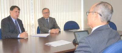 O secretário Alexandro de Castro foi recebido nesta sexta-feria, 6, na Câmara de Comércio e Indústria Japonesa do Brasil